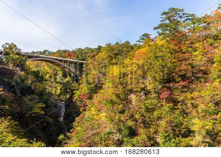 Bridge in Naruko Gorge