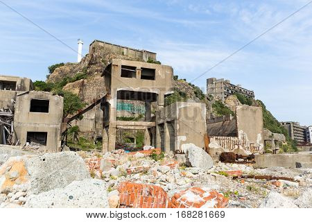 Battleship Island in Nagasaki, Japan