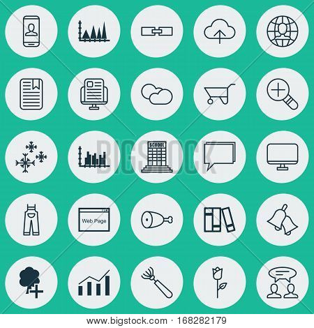 Set Of 25 Universal Editable Icons. Can Be Used For Web, Mobile And App Design. Includes Elements Such As Scale Line Chart, Conference, Privacy Information And More.