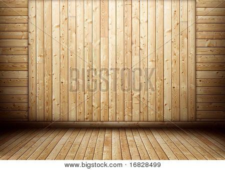 Grunge wooden room interior