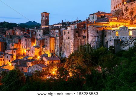 Sorano - Tuff City In Tuscany. Italy