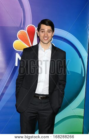 LOS ANGELES - JAN 18:  Nicholas D'Agosto at the NBC/Universal TCA Winter 2017 at Langham Hotel on January 18, 2017 in Pasadena, CA
