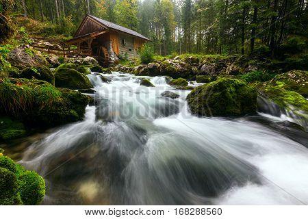Old Mill Near Golling An Der Salzach, Austria