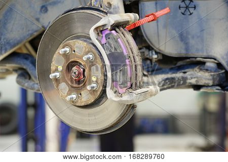 disc brake rotor of a car