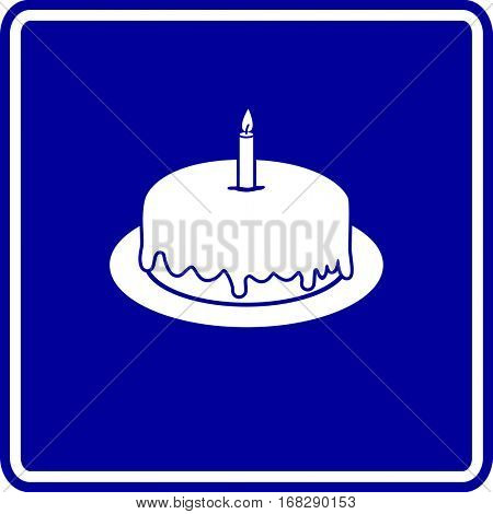 birthday cake with candle sign