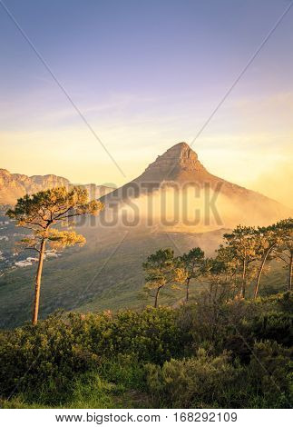 Lions Head Mountain in Cape Town, South Africa