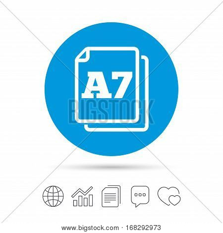 Paper Size A7 Vector & Photo (Free Trial) | Bigstock