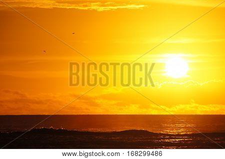 Hawaii, Usa, Sunset