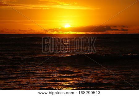 Hawaii, Usa, Sunset