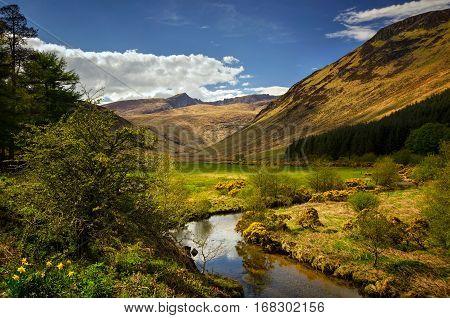 Glenrosa River in Glen Rosa Valley Isle of Arran Scotland