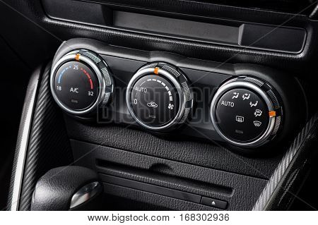 car air conditioner switch temperature switch, transportation concept