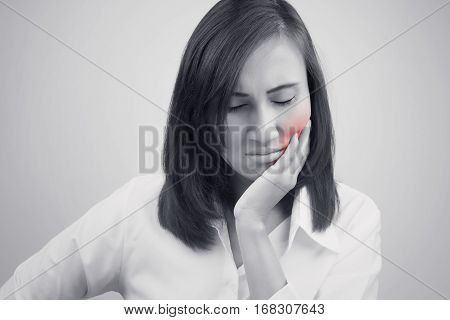 Have a toothache isolate on white background