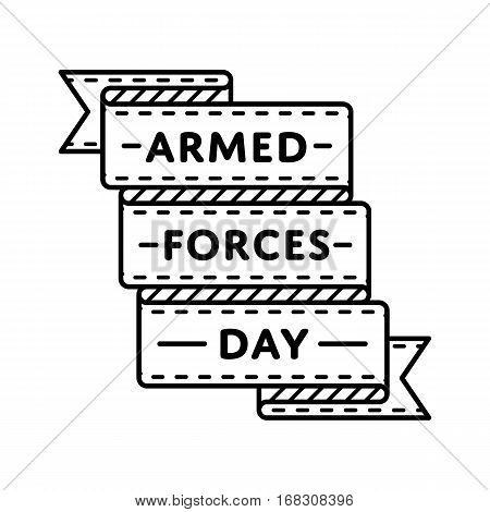 Armed Forces Day emblem isolated vector illustration on white background. 20 may USA patriotic holiday event label, greeting card decoration graphic element
