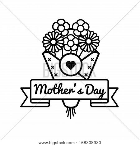 World Mothers day emblem isolated vector illustration on white background. 14 may world feminine holiday event label, greeting card decoration graphic element