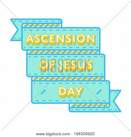 Ascension of Jesus emblem isolated vector illustration on white background. 25 may world catholic holiday event label, greeting card decoration graphic element
