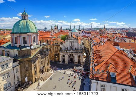 Prague old town city skyline, Prague, Czech Republic
