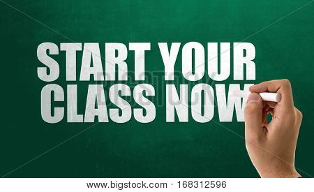 Start Your Class Now