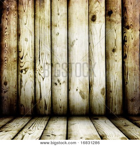 interior of wooden house
