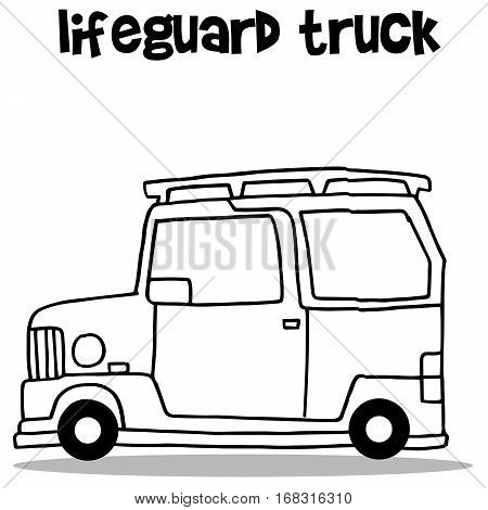 Car of lifeguard transport vector collection stock