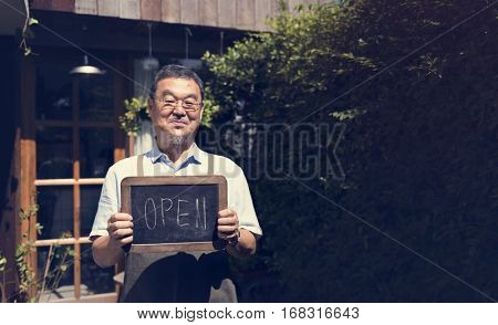 Cafe Open Shop Retail Welcome Notice Retail Front