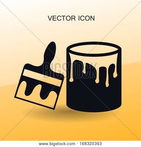 paint brush icon vector illustration