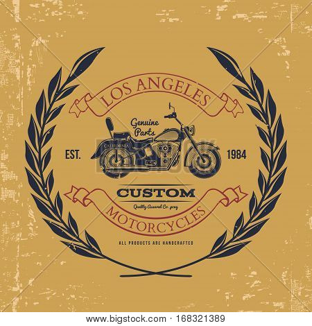 Motorcycle vintage graphics, t-shirt typography, Vintage. Vector Illustration