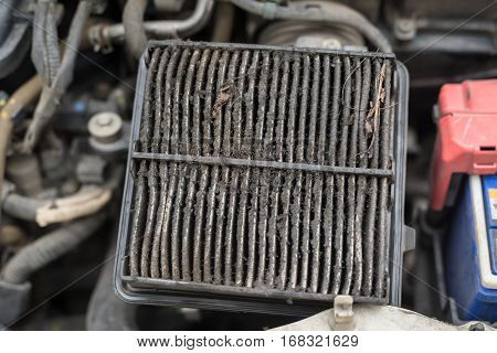 dirty air filter for car automotive spare part