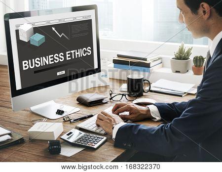 Business Ethics Strategy Development Concept