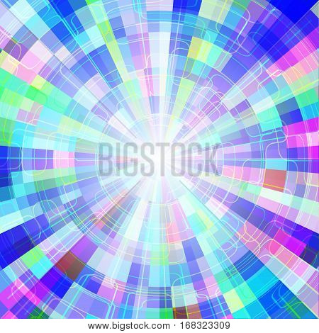 Abstract colorful shining circle tunnel vector background EPS10