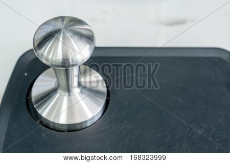 Barista tamper Professional coffee tools in shop