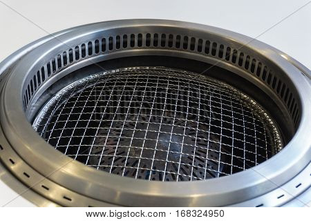 Clean gas stove for grilled in Bar-B-Q restaurant.