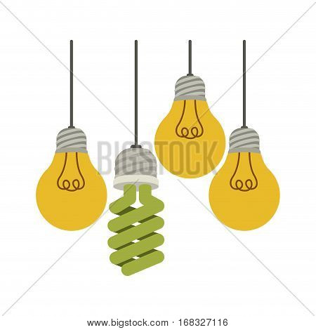 colorful hanging bulbs with filaments vector illustration vector illustration