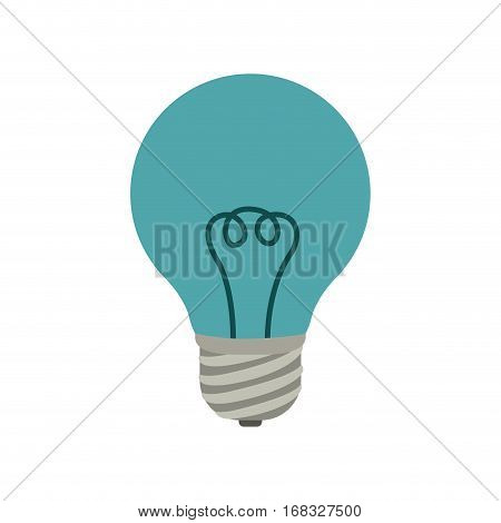 colorful silhouette light bulb with filaments vector illustration