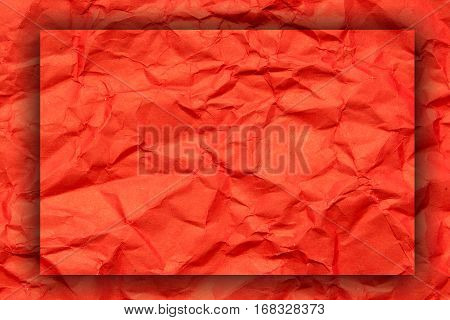 Red crumpled paper for backgrounds or textures.