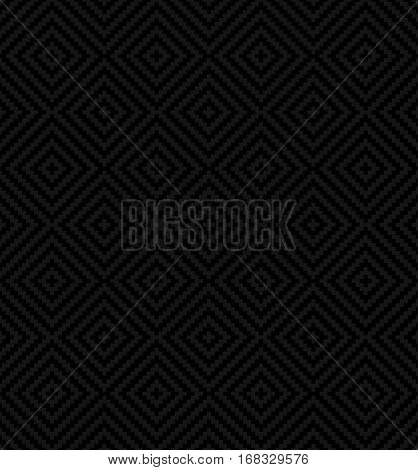 Black Squares Pixel Art Pattern. Checked Neutral Seamless Pattern for Modern Design in Flat Style. Tileable Geometric Vector Background.