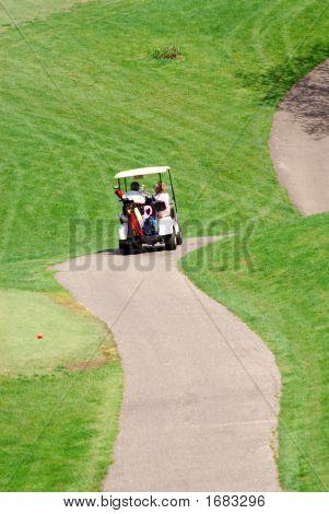 Golf Cart Winding Path