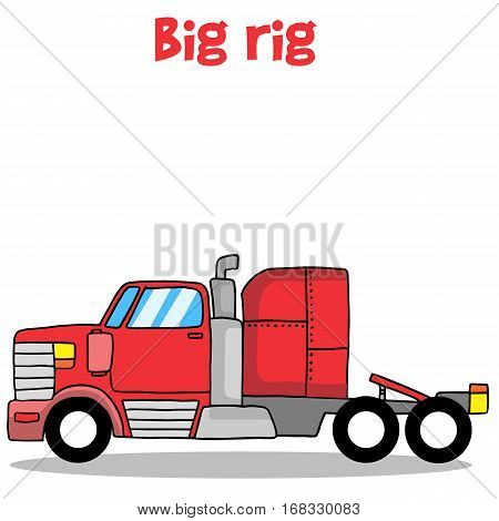 Big rig truck of vector illustration collection stock