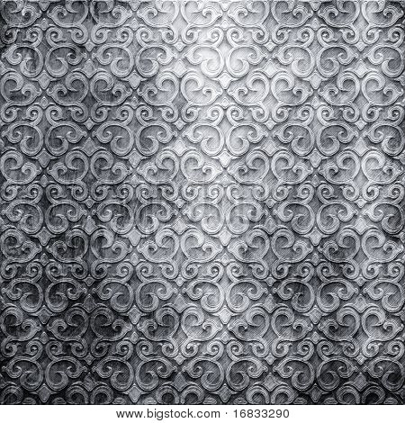vintage silver background with shabby pattern
