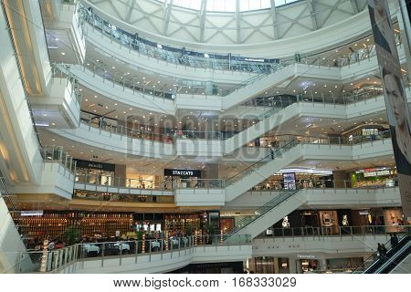 SHANGHAI - FEBRUARY 28, 2016: Luxury shopping mall. China accounts for about 20 percent, or 180 billion renminbi ($27 billion) of global luxury sales in 2015, according to new McKinsey research.
