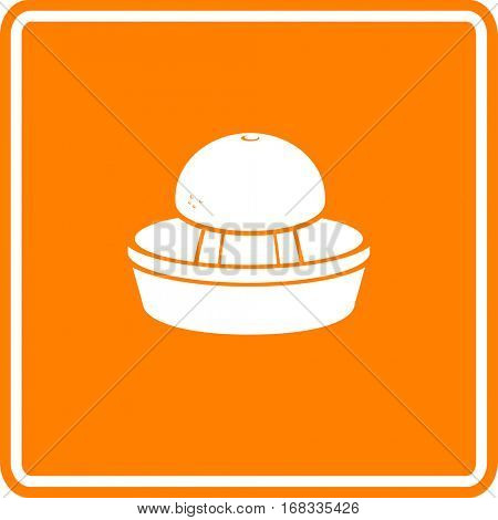 citrus juicer and orange sign