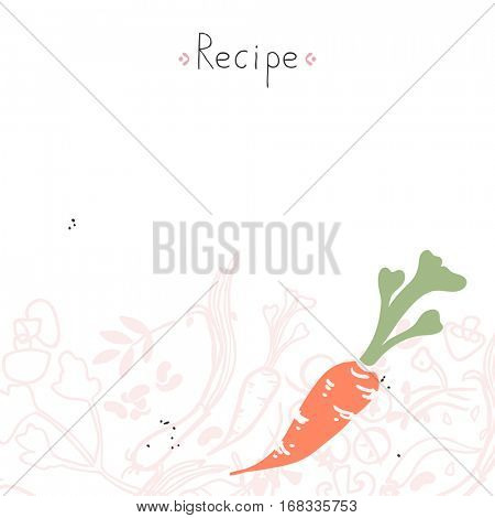 recipe template with carrot