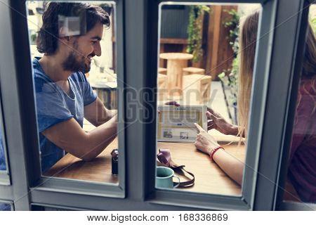 Couple date restaurant booking flights