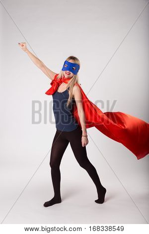 Super Hero Woman In Superwoman Costume