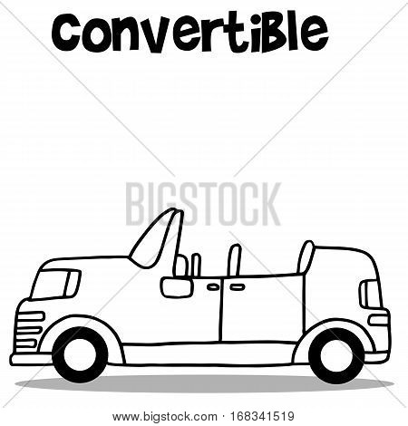 Illustration vector of convertible car collection stock