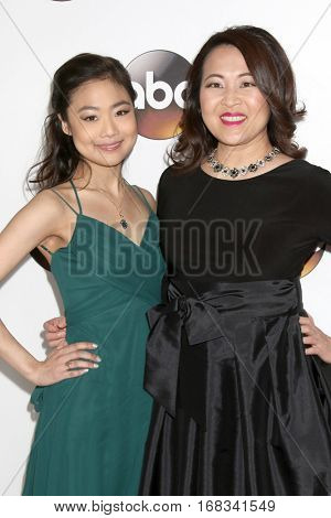 LOS ANGELES - JAN 10:  Krista Marie Yu, Suzy Nakamura at the Disney/ABC TV TCA Winter 2017 Party at Langham Hotel on January 10, 2017 in Pasadena, CA