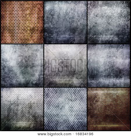 Metal grid set