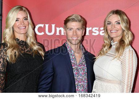 LOS ANGELES - JAN 17:  Askley Wirkus, Kyle Cook, Lauren Wirkus at the NBC/Universal Cable TCA Winter 2017 at Langham Hotel on January 17, 2017 in Pasadena, CA