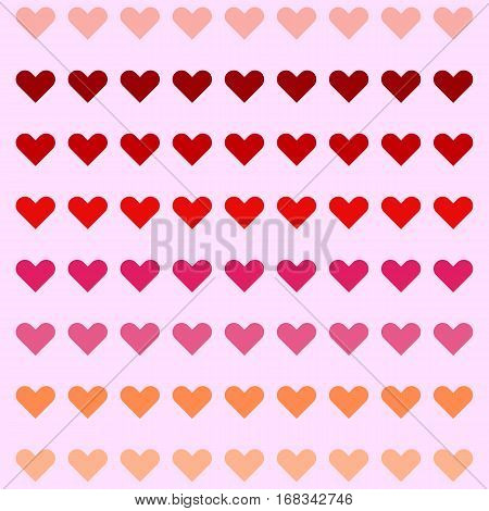 Sweet heart pattern colorful background stock vector