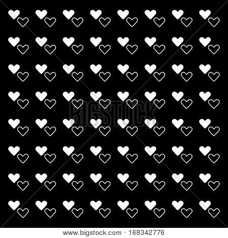 White pure heart pattern background stock vector