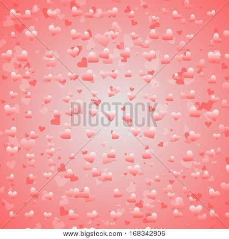Created lovely heart bokeh background stock vector
